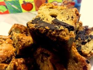 Mini cakes banane-chocolat