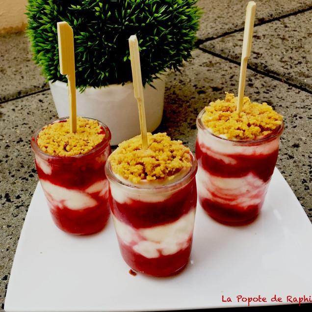 Cheesecake glacés à la fraise