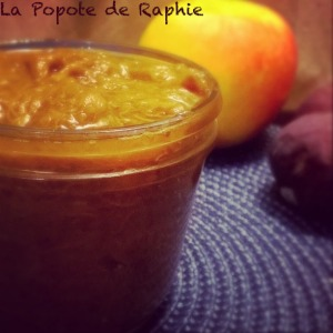 compote rhubarbe et pomme