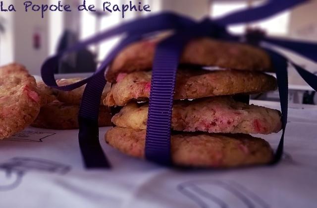 Cookies aux pralines roses et caramel 1