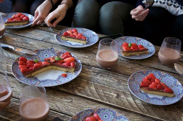 Tarte fraises choco