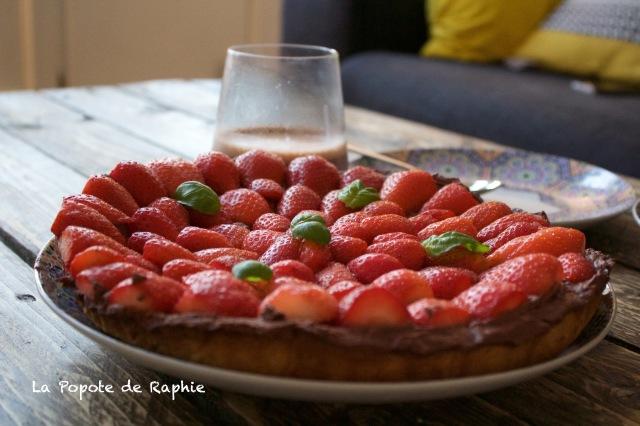 Tarte fraises & chocolat
