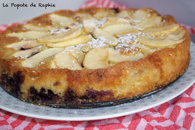 Gateau pommes myrtilles 1