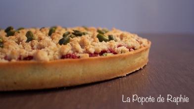 Tarte framboise pistache crumble1